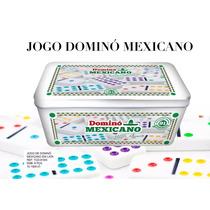 Dominó Mexicano Double 12 Lata Decorada Com 91 Pçs Coloridas