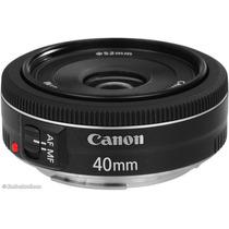 Lente Canon Ef 40mm F/2.8 Stm F2.8 Pancake Lens Menor Lente