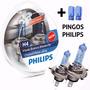 Lampada H4 Farol Philips Cristal Vision Branca 4300k Carro