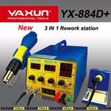 Yaxun Estação De Retrabalho De Solda + Fonte Yx884d+ 110v