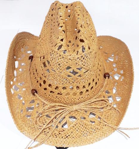 5781402c07a69 Chapéu Marrom Tipo Palha Cowboy Country Feminino Masculino à venda ...