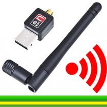 Adaptador Wireless Usb Wifi 150mbps Sem Fio Lan B/g/n Antena