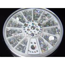 Strass Cristal 3d Cor Prata P/ Arte Em Unhas 400 Pcs