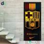 Adesivo Porta -(esporte) Futebol Barcelona- Barc03 Dekorarte
