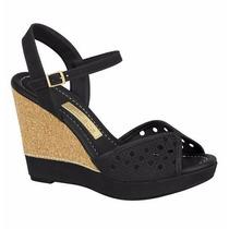 Sandália Feminina Anabela Moleca 5221.923 - Maico Shoes