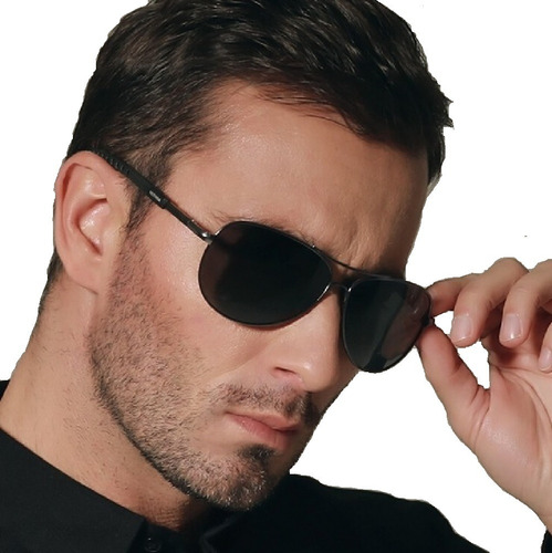 be295653d Óculos De Sol Aviador Escuro Masculino Luxo Proteção Uv 400