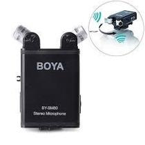 Microfone Boya By-sm80 Xy Dupla Stereo Profissional Dslr