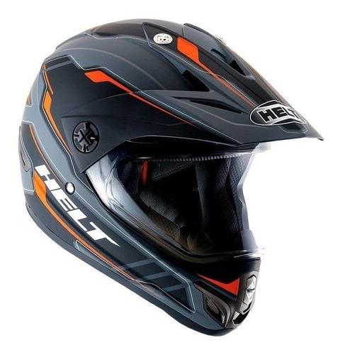 Capacete Para Moto Cross Helt Cross Vision Triller Laranja M