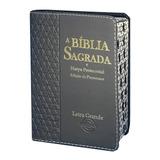 Bíblia Letra Grande Com Harpa Índice Feminina Masculina 16cm