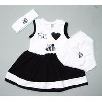 Conjunto Vestido Do Santos F.c De À 18 Meses (meninas)