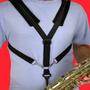 Correia Saxofone Luxo Almofadada