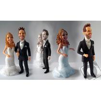 Casal Em Caricatura, Boneco Personalizado Em Biscuit