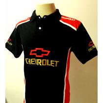 Camisetas Esportiva Gola Polo Masculina Carro Chevrolet