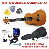 Kit Completo Ukulele Shelby Mogno Su23m Concerto Envio Já