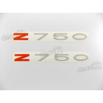 Adesivo Emblema Kawasaki Z750 Vermelho E Prata Par - Decalx