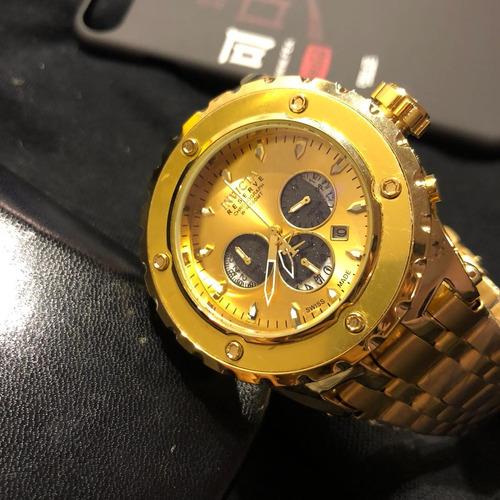 5a5785ef4bf Relógio Excelence Dourado Funcional A Prova D água