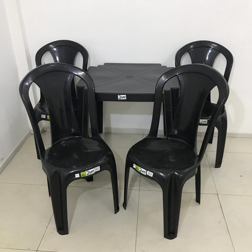 Jogo De Mesa E Cadeiras Plástico-verde-grande Oferta