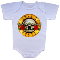 Body E Camiseta Infantil Estampa Guns N' Roses