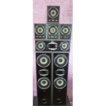 Kit 07 Caixas Sony Muteki Black Piano 140w Cada - Impecaveis