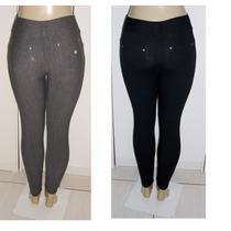 Calça Fem.tipo Jeans Estilo Moletinho C/ Strech Nova Tam. P