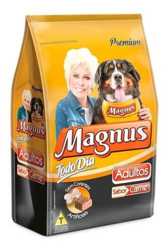 Ração Magnus Premium Todo Dia Para Cachorro Adulto Da Raça Média/grande Sabor Carne Em Saco De 15kg