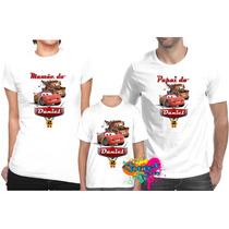 Camiseta - Camisa Personalizada Carros Disney 3 Peças