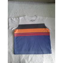 Camiseta Branca Em Algodão De Listra Colorida Tyrol Ty0012