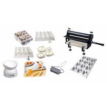 Kit Fábrica De Coxinhas+ Máquina De Churros+ Cilindro 35 Cm