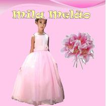 Vestido Princesas Daminhas Longos Importado Pronta Entrega