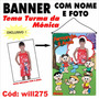 Banner Aniversário Nome E Foto Tema Turma Da Mônica Will275