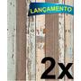 Papel Adesivo Contact Madeira De Demolição 45cmx10mt / 2 Und