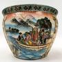 Grande Vaso Cachepot Aquario Porcelana Oriental Original