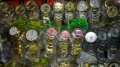 9e69f6bbabc Kit Relógio Dourado prata  bronze Lote 10pçs Atacado revenda - R ...