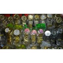 Kit Relógio Dourado/prata /bronze Lote 10pçs Atacado/revenda