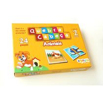 Jogo Pedagógico Quebra-cabeça Animais 24 Peças Em Mdf 6mm