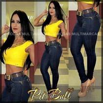 Calça Pit Bull Jeans Elastano Modela Bumbum Peças Limitadas