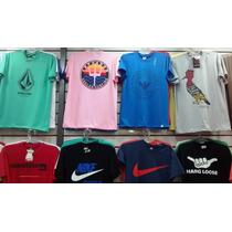 Kit C/20 Camisetas Várias Marcas R$ 340,00