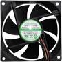Cooler/ventilador  P/ Gabinete/fonte 80 Mm Preto Evercool