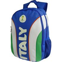 Mochila Itália Copa Do Mundo Da Fifa - Azul E Branco