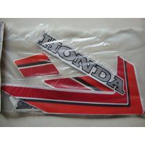 Jogo De Faixas Adesivo Honda Cg 125 Branca Ano 1985