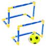 Par Traves Mini Gol Futebol + Bola Redes B. Ar Bel Fix 48800