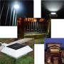 2 Luminárias Solar 4 Led Telhados Calhas Cercas Jardim Muro