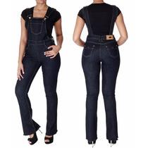 Macacão Jeans Feminino Sawary Flare Com Lycra Sabrina Sato
