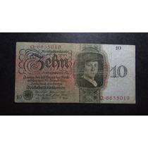 Alemanha 10 Reichsmark - Cédula Raríssima - Pague Sem Juros