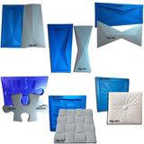 6 Formas De Plástico C/ Borracha Eva Gesso 3d Ale2