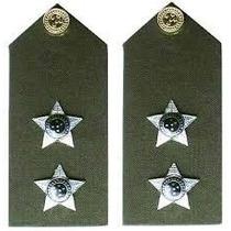 Platina De Primeiro Tenente Do Exército Brasileiro - (par)