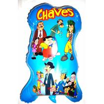 Balão Metalizado Turma Do Chaves - Kit 50 Balões