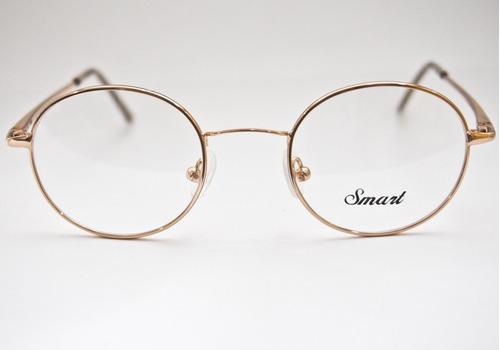 6314fdddad201 Armação Para Óculos Smart Redonda Est Harry Potter Dourado