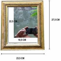 Moldura Com Espelho - Ornato Rústico - 27,5x23,5 Cm- 50%off!