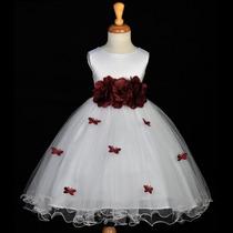 Vestidos De Dama De Honra-daminha Florista Com Saiote 1 A 12